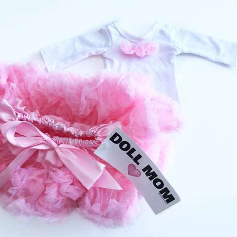Doll Mom Light Pink Pettiskirt Set