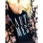 HAUTE MESS TANK | BLACK WITH WHITE INK