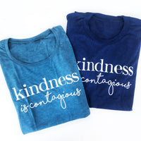 Kindness is Contagious Navy Tee