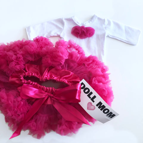 Doll Mom Hot Pink Pettiskirt Set