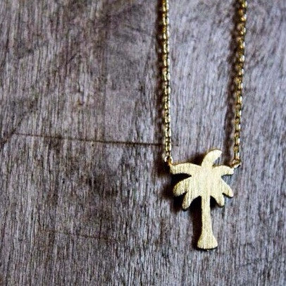 Dainty Gold Palm Tree Necklace