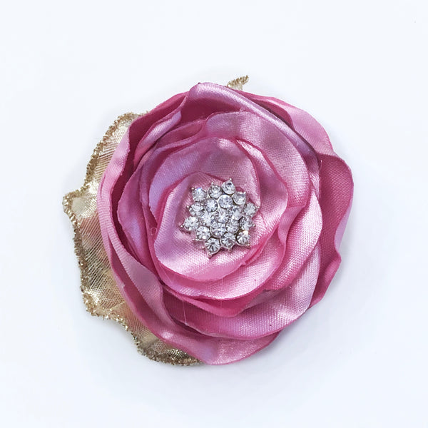 Light Pink Crystal Rosette