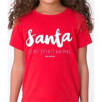 KIDS TEE | SANTA IS MY SPIRIT ANIMAL