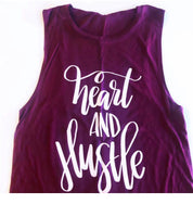 Heart & Hustle Maroon Muscle Tank