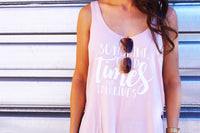 Sunshine Goodtimes & Tanlines Flowy Tank