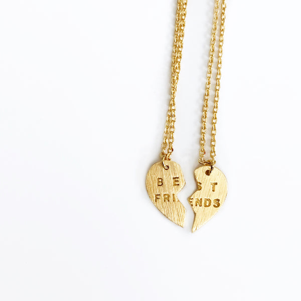 Dainty Gold Best Friend Necklaces