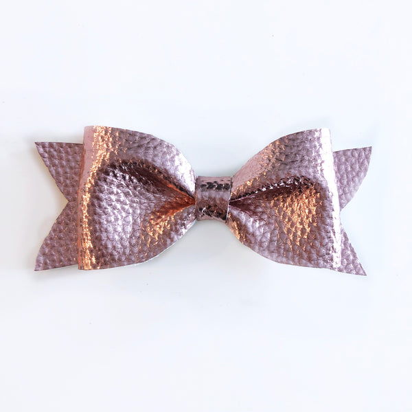 Leather Rose Gold Bow