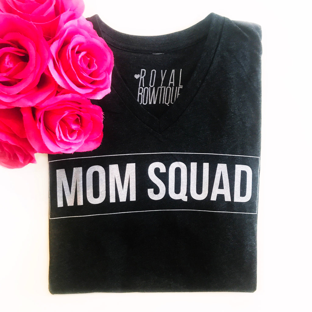 Mom Squad Boyfriend Fit Tee