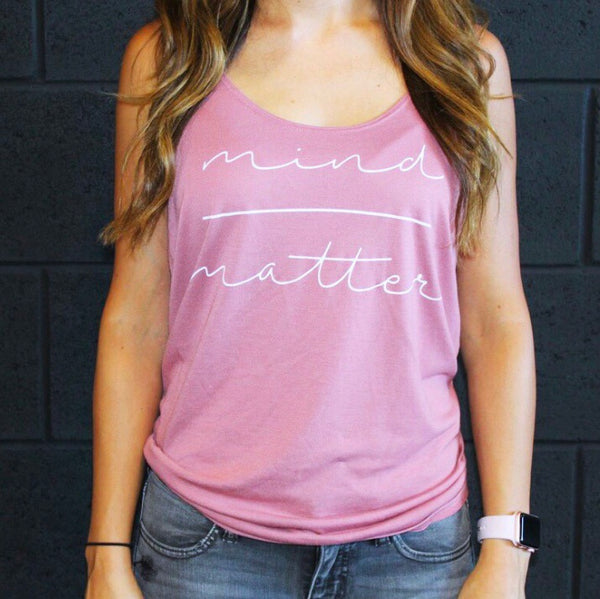 Mind over Matter Mauve Flowy Tank