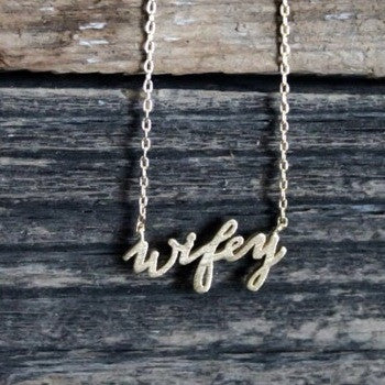 Dainty Gold Wifey Necklace