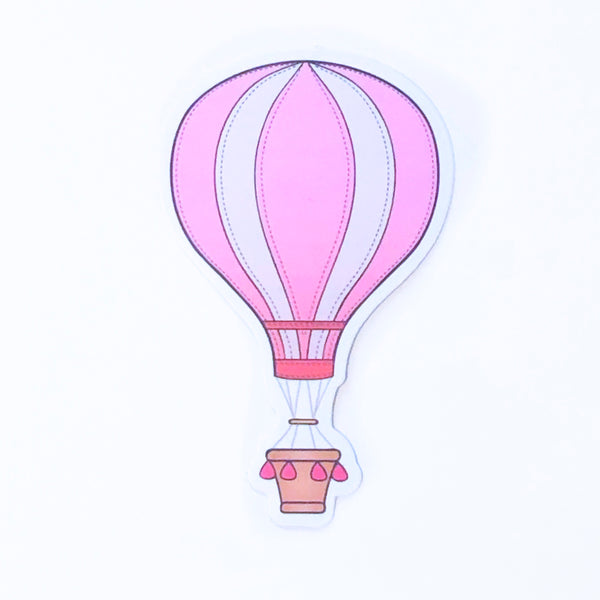 Pink Hot Air Balloon Sticker