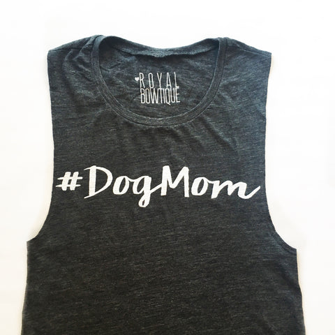 #DogMom Flowy Scoop Muscle Tank