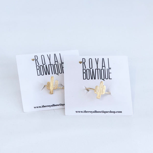 Dainty Gold Cactus Rings