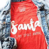 Santa Is My Spirit Animal Longsleeve Tee