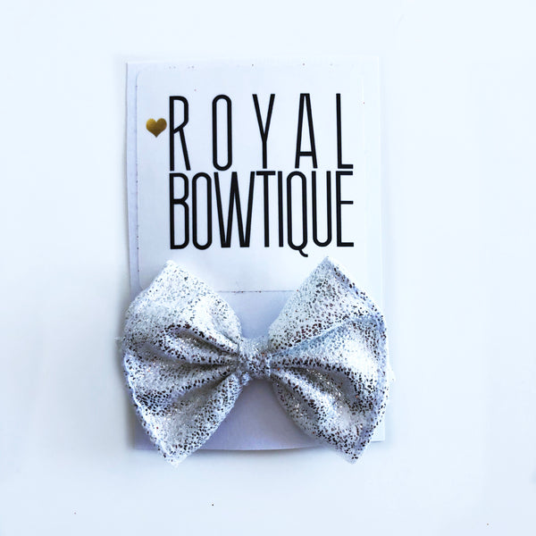 Silver Metallic Mini Bow