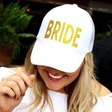 Gold Glitter Bride Hat