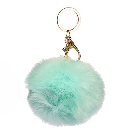 Puff Ball Mint Keychain