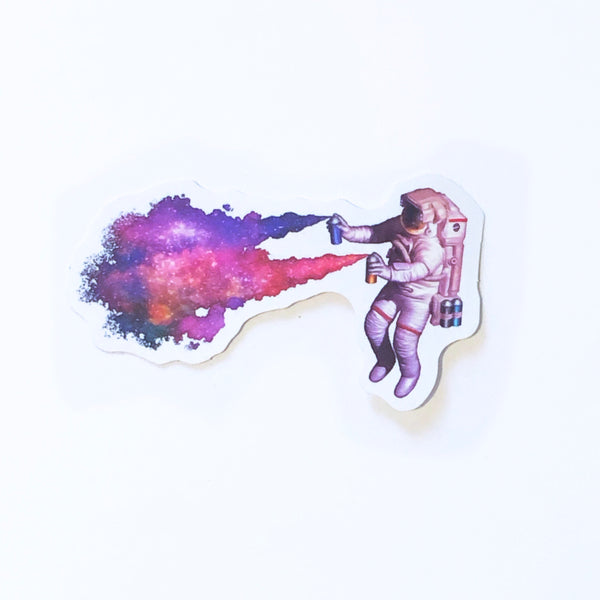 Astronaut Galaxy Sticker
