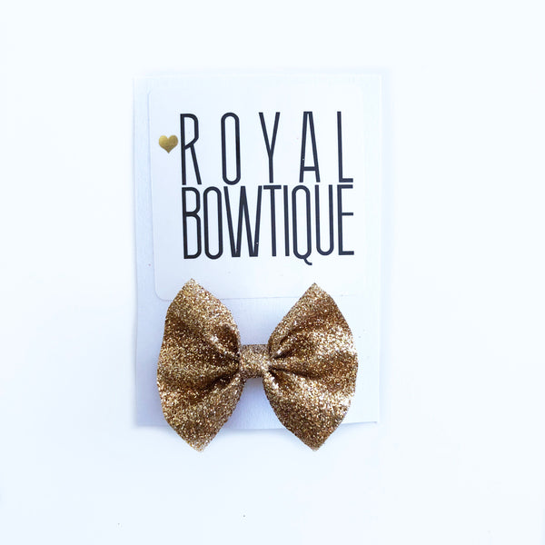 Gold Glitter Mini Bow