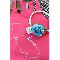 HOME TANK | CALIFORNIA PINK WITH WHITE INK