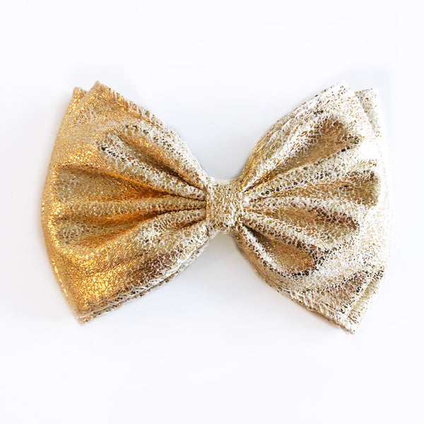 Metallic Gold Bow
