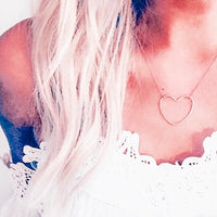 Dainty Gold Open Heart Necklace