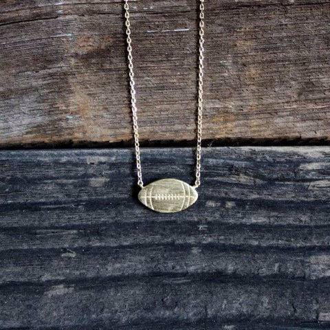 Dainty Gold Football Necklace