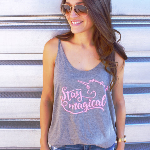 Stay Magical Unicorn Flowy Tank