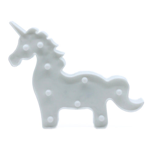 White Unicorn Marquee Light