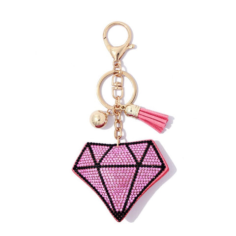 Crystal Diamond Keychain
