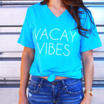 Vacay Vibes Boyfriend Fit V Neck