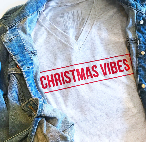 Christmas Vibes Boyfriend Fit Tee