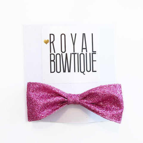 Mini Hot Pink Glitter Bow
