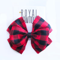 Red Plaid Bow