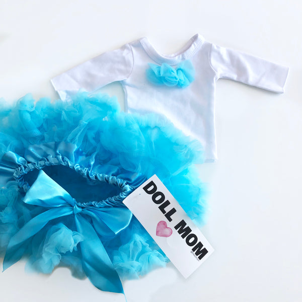 Doll Mom Blue Pettiskirt Set