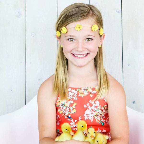 Yellow Elastic Flower Crown