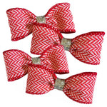 Red Herringbone Bow