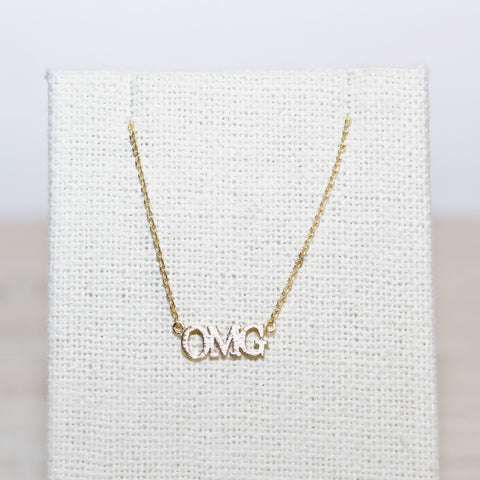 Dainty Gold OMG Necklace