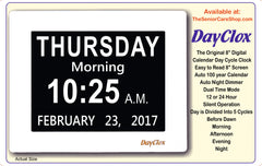 DayClox - '5 CYCLE'  Memory Loss Digital Calendar Day Clock - The Senior Care Shop  - 7