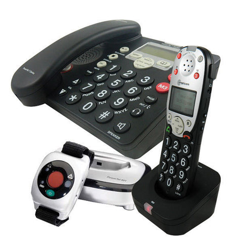 Amplified Phone With Wrist Transmitter