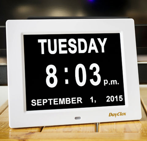 DayClox Digital Calendar Day Clock - The Original Memory Loss Day Clock - The Senior Care Shop  - 1 DayClox Digital Calendar Day Clock - The Original Memory Loss Day Clock