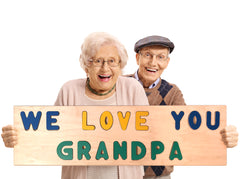 """WE LOVE YOU GRANDPA"" Giant Wooden Puzzle"