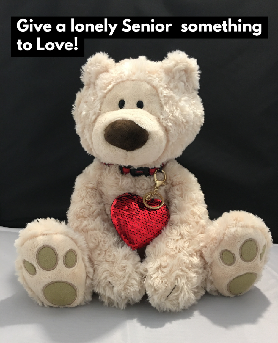 Large Teddy Bear with a Big RED Heart - Comfort and Therapy for People with Dementia or Alzheimer's. Size: 18 inches high