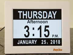 DayClox Memory Loss Digital Calendar 5-Cycle Clock with Black & White Section Display
