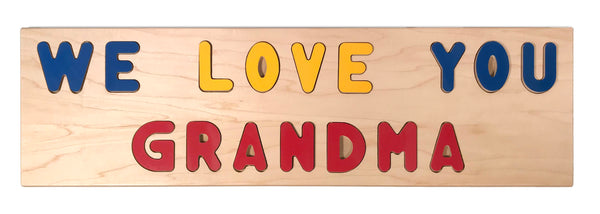 """WE LOVE YOU GRANDMA"" Giant Wooden Puzzle"