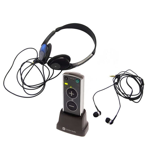 Comfort Audio Duett Newest Personal Amplifier & Listener with Earphone/Headphone.