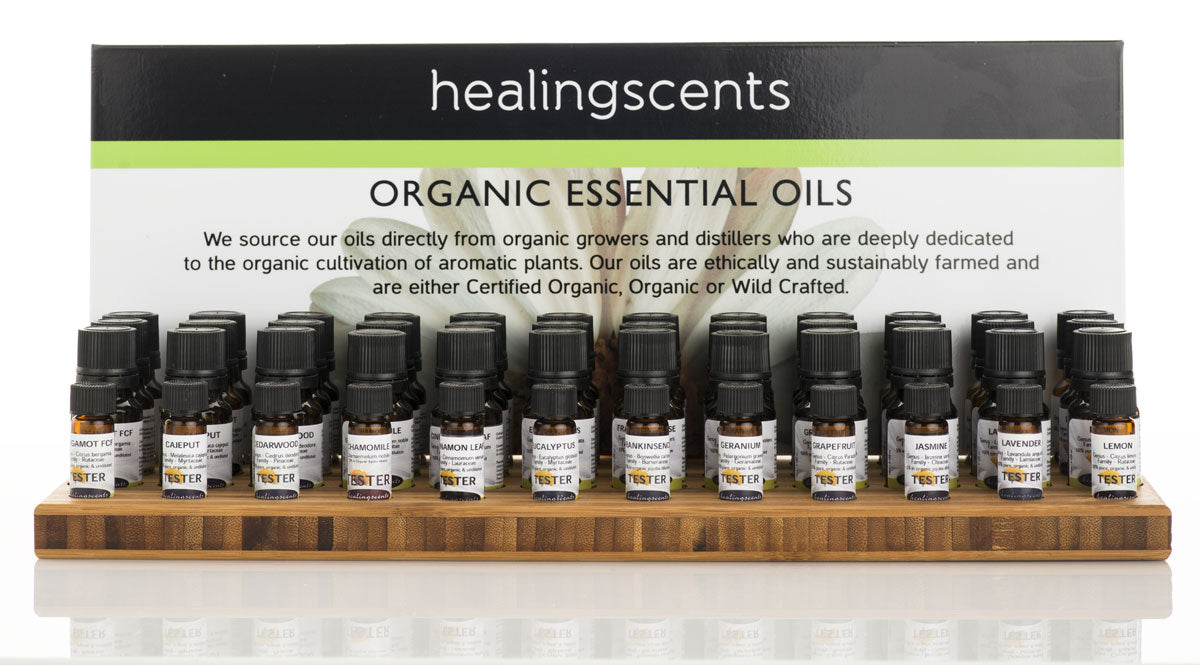 Wholesale Display of Healingscents essential oil
