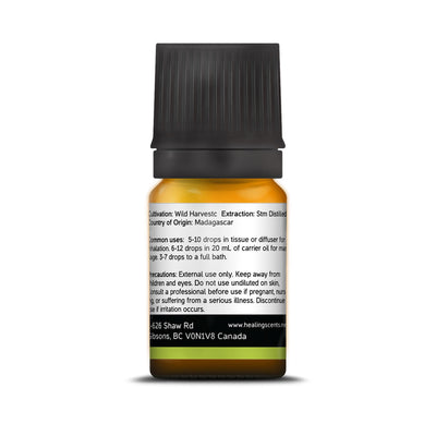 Ravensara Leaf Essential Oil 10 ml - back