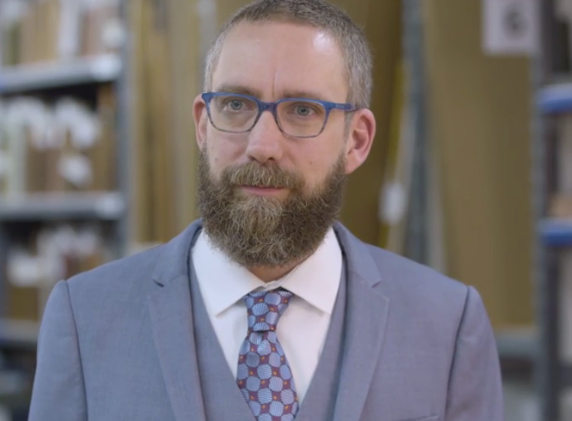 A Special Video of a Christies Customer wearing a Gentleman Joe Tie