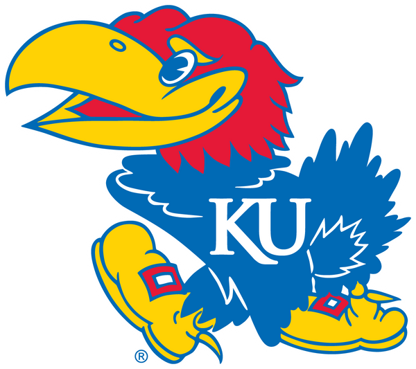 Kansas University mascot official colors